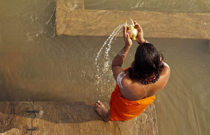 Varanasi Indien Ganges